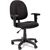 Alera Swivel Task Chair with Arms - Fabric - Black - Essentia Series
