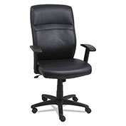 Alera® High-Back Leather Swivel Chair - Black