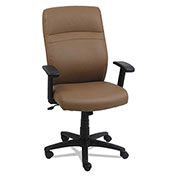 Alera® High-Back Leather Swivel Chair - Taupe