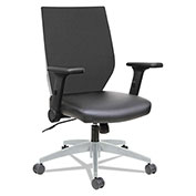 Alera® Syncho Mid-Back Chair with Flip-Arm - Black/Gray - EB-T Series