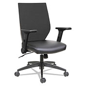 Alera® Syncho Mid-Back Chair with Flip-Arm - Black - EB-T Series