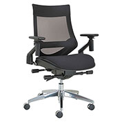 Alera® Multifunction Mesh Chair with Pivot Arm - Black - EB-W Series