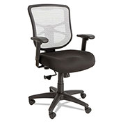 Alera® Mesh Mid-Back Chair - Black/White - Elusion Series