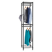 "Alera® Wire Shelving Garment Tower - 18""W x 18""D x 81-3/4""H - Black"