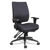 Alera® Multifunction Fabric Task Chair - High Performance - Black - Wrigley Series