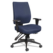 Alera® Multifunction Fabric Task Chair - High Performance - Blue - Wrigley Series