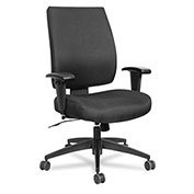 Alera® Synchro-Tilt Fabric Task Chair - High Performance - Black - Wrigley Series