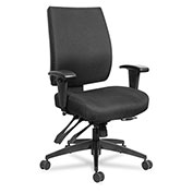 Alera® 24/7 Multifunction Fabric Chair - High Performance - Black - Wrigley Series