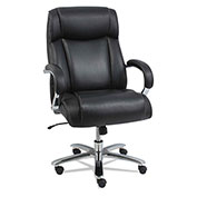 Alera® Big and Tall Leather Chair - Black/Chrome - Maxxis Series