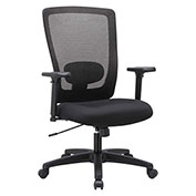Alera® Mesh High-Back Swivel Chair - Black - Envy Series