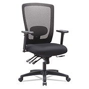 Alera® Mesh High-Back Multifunction Chair - Black - Envy Series