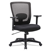 Alera® Mesh Mid-Back Swivel Chair - Black - Envy Series