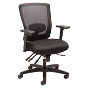 Alera® Mesh Mid-Back Multifunction Chair - Black - Envy Series