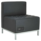 "Alera® Powered Armless L Sectional Seating - 26-3/8"" x 26-3/8"" x 30-1/2"" - Black - QUB Series"