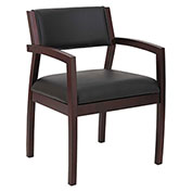 Alera® Leather Guest Chair - Black - Reception Lounge 500 Series