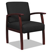 Alera® Fabric Guest Chair - Black - Reception Lounge 700 Series