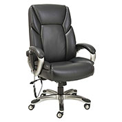 Alera® Shiatsu Massage Chair - Black - Silver Base