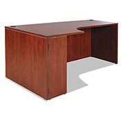 "Alera® Left Corner Credenza Shell - 72""W x 36""D x 29-1/2""H - Medium Cherry - Valencia Series"