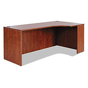 "Alera® Right Corner Credenza Shell - 72""W x 36""D x 29-1/2""H - Medium Cherry - Valencia Series"
