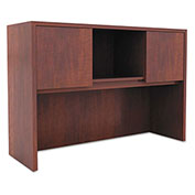 "Alera® Hutch with Doors - 47""W x 15""D x 35-1/2""H - Medium Cherry - Valencia Series"