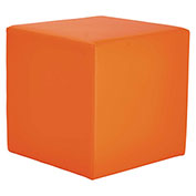 "Alera® Padded Cube Bench - Collaboration Seating - 18"" x 18"" x 18"" - Mandarin - WE Series"