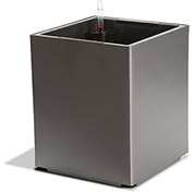 Self Watering Modena Cube Planter, Matte Granite