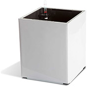 Self Watering Modena Cube Planter, Gloss White