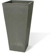"Valencia Square Planter, 13.75"" X 23.5""H, Charcoal"