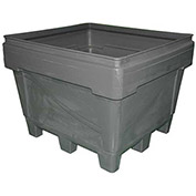 "Snyder Armor Bin 1036 - 2000 Lbs. Capacity 48""L x 44""W x 36""H, Molded Base, Gray"