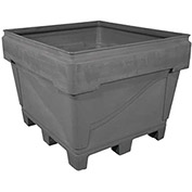 "Snyder Armor Bin 3036 - 2000 Lbs. Capacity 48""L x 44""W x 36""H, Replaceable Pallet Base, Gray"