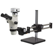 UNITRON Z650HR Trinocular Zoom Stereo Microscope with C-Mount on Ball Bearing Boom Stand