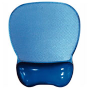 Aidata CGL003B Crystal Gel Mouse Pad with Wrist Rest, Blue