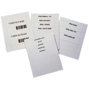 "Laser Insert Sheets, Letter - Pref. 3"" x 5"",  Price for 200 inserts/Package"