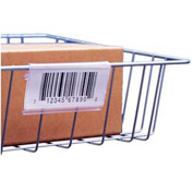 "Label Holder, Wire Basket/Display, Clear 6"" (25 pcs/pkg)"
