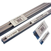 "Label Holders, 2"" x 4"", Clear, T-Slot Aluminum Extrusion (25 pcs/pkg)"