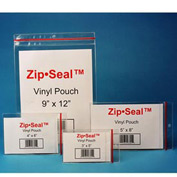 "Zip Seal Vinyl Pouches, 4"" x 6"", Magnetic (25 pcs/pkg)"