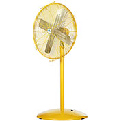 "Airmaster Fan 30"" Pedestal Yellow Safety Fan - 2 Speed Drop Cord Switch 10732K 1/3 HP 6915 CFM"
