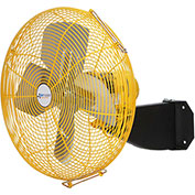 "Airmaster Fan 20"" Beam Mount Yellow Safety Fan - 2 Speed Pull Chain Switch 12210K 1/3 HP 3637 CFM"