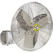 "Airmaster 20"" Washdown Wall Mount Fan 70833 1/15HP 2650CFM"