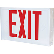 Lithonia Lighting L X W 3 R EL N Emergency Exit Sign, White
