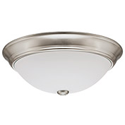 Lithonia Lighting FMDECL 14 20840 BN M4 LED Round Flush Mount Light, 20W, 4000 CCT, Brushed Nickel