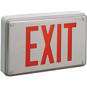 Lithonia Lighting LV S W 1 R 120/277 EL N UM All-Conditions Exit Sign, White