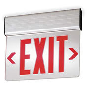 Lithonia Lighting EDGNY 1 R M4, Surface Mount LED Edge-Lit Exit Sign, Single-Face AC only