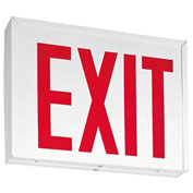 Lithonia Lighting LXNY W 3 R EL M4, LED Steel Exit Sign, 2W, Emergency Operation With Battery, White