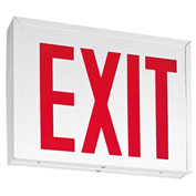 Lithonia Lighting LXNY W 3 R M4, LED Steel Exit Sign, 2W Standard Non-Emergency, White