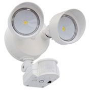 Lithonia Lighting OLF 2RH 40K 120 MO WH M6, LED Flood Light, Motion Sensor, 2-Head 4000K, White
