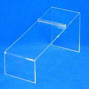 "Shoe Display, 8-1/4"" L x 4"" H, 3/32"" Thickness, Acrylic, Clear - Pkg Qty 5"