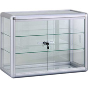 "Countertop Glass Showcase 24"" L x 12"" D x 18"""
