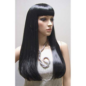 Mannequin Wig, Female Straight Hair with Bangs - Black