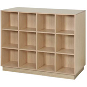 "Island Cube Display, Double Side 51-1/2""W x 24""D x 42""H, 24 Cubes - Maple"
